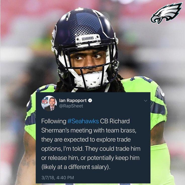 The Seattle Seahawks are rumored to release CB Richard Sherman tomorrow. Should the Philadelphia Eagles obtain him for a reasonable price?  #EaglesNation #FlyEaglesFly #Philadelphia #Philly #GangGreen #BleedGreen #PhiladelphiaEagles #NFL