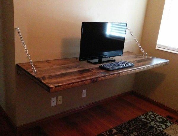 Diy Floating Shelves Desk