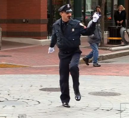 Dancing Traffic Cop of Providance, Rhode Island