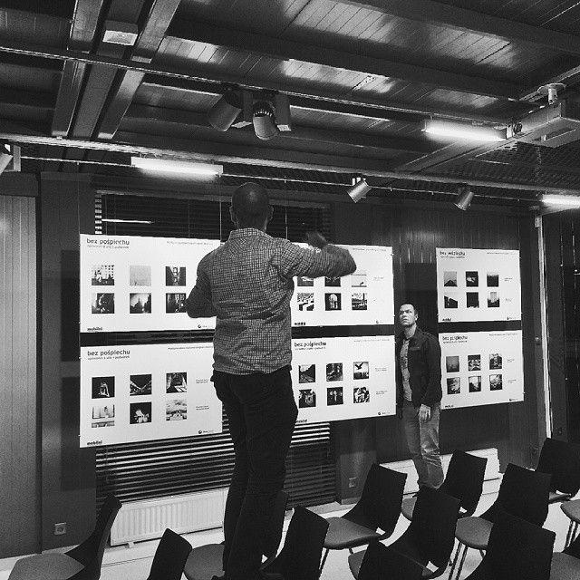 """""""Without Haste"""" Exhibition in Gdynia getting ready ! Wystawa już gotowa. """"Bez pośpiechu – opowieści z ulic i podwórek"""" dostępna jest w siedzibie InfoBoxu, przy ul. Świętojańskiej 30 w Gdyni w terminie 19–30 stycznia 2015 r., od poniedziałku do piątku w godz. 10.00–19.00,  w sobotę 11.00–18.00, w niedzielę 11.00–16.00.  Wernisaż wystawy odbędzie się23 stycznia o godzinie 18.00. Serdecznie zapraszamy! Foto @przemekzdybel."""