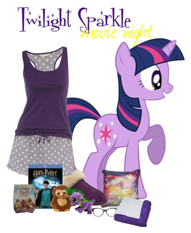 """""""Twilight Sparkle movie night outfit"""" by pinkie8 ❤ liked on Polyvore featuring UGG Australia, Dorothy Perkins, My Little Pony and Valentino"""