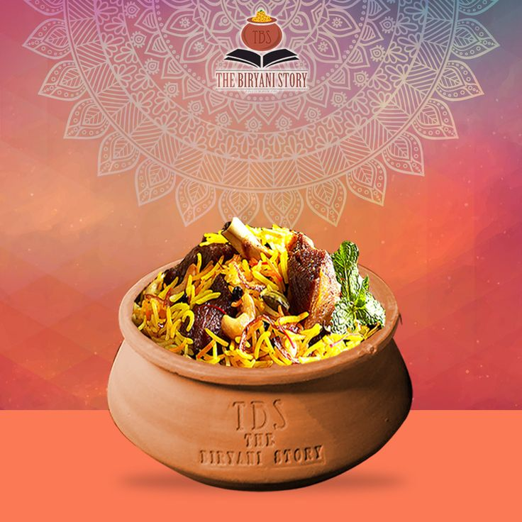 Mutton Biryani: Marinating mutton in a melange of spices like cumin powder, coriander powder and star anise powder and is assorted with cooked rice.  #Food #Biryani #Foodie #Chandigarh #TastyFood #FoodLovers #Chandigarhfood #thebiryanistory
