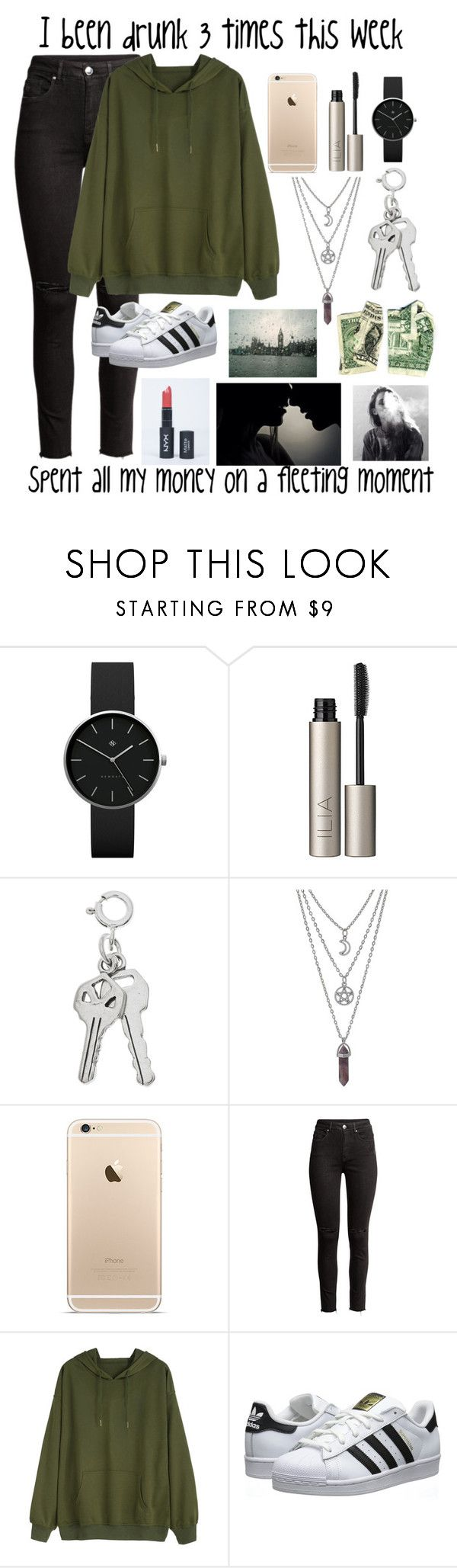 """""""Bloodstream (Read Description)"""" by mgmurray03 ❤ liked on Polyvore featuring Newgate, Ilia, H&M, adidas Originals, song, 2017, chainsmokers and bloodstream"""