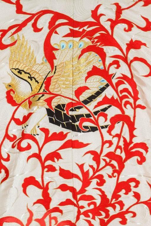 Vintage Silk Brocade Japanese Ceremonial Kimono 6