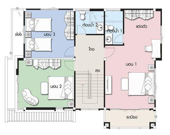Home Design Plan 12x9 5m With 3 Bedrooms Home Design With Plansearch Home Design Plan House Design Home Design 2017