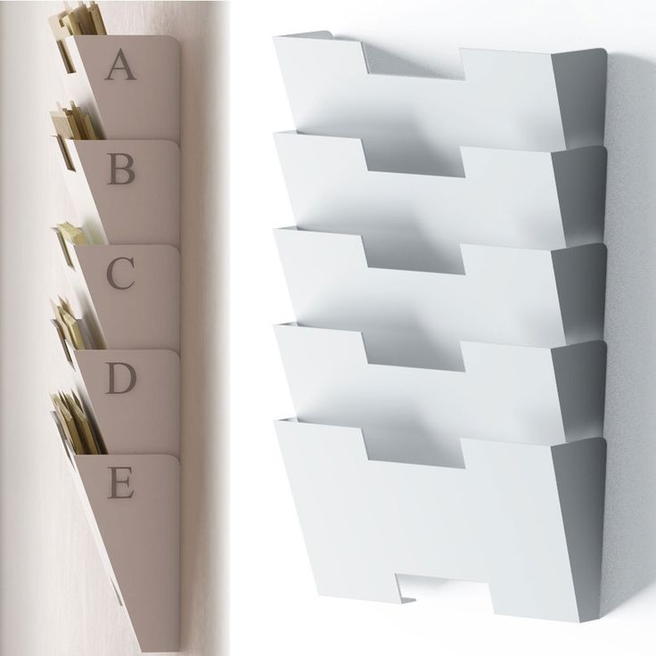 office paper holder. white wall mount steel file holder organizer rack 5 sectional modular design wider than letter office paper