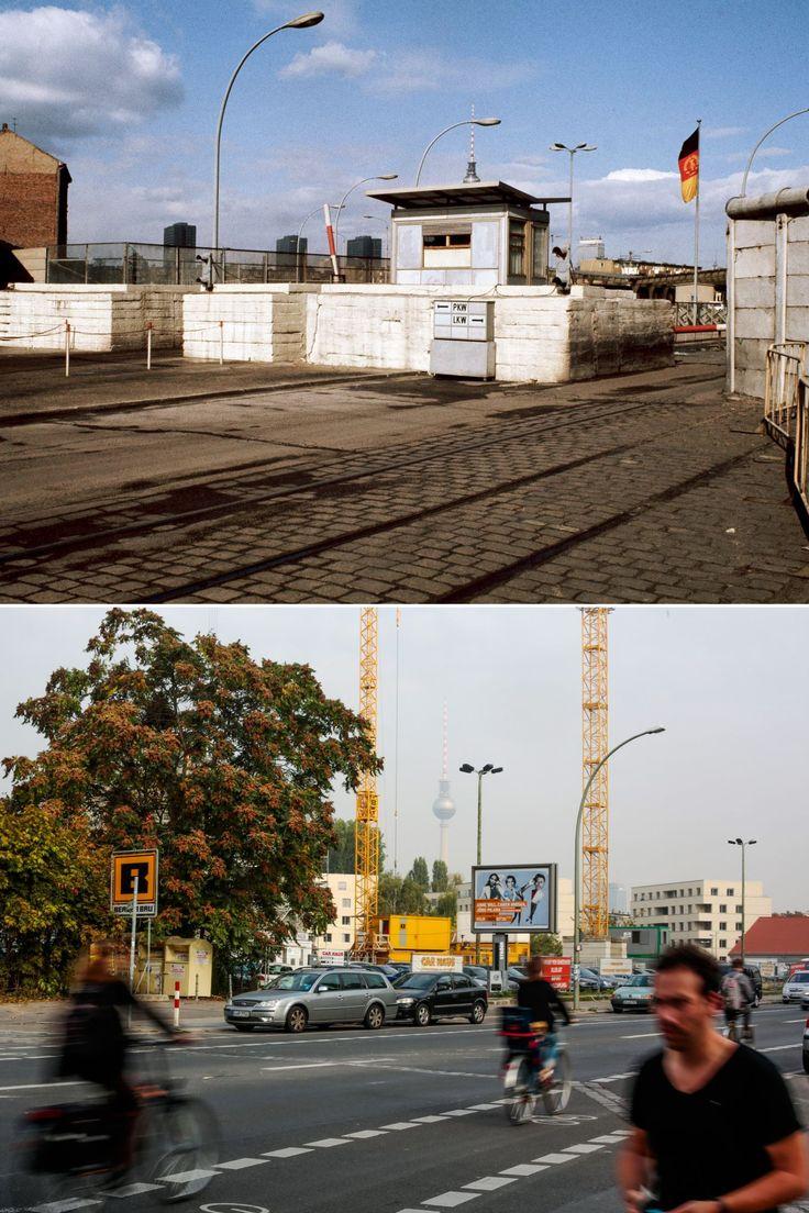 orte der berliner mauer damals und heute berlin then and now muro de berl n muros fotos. Black Bedroom Furniture Sets. Home Design Ideas