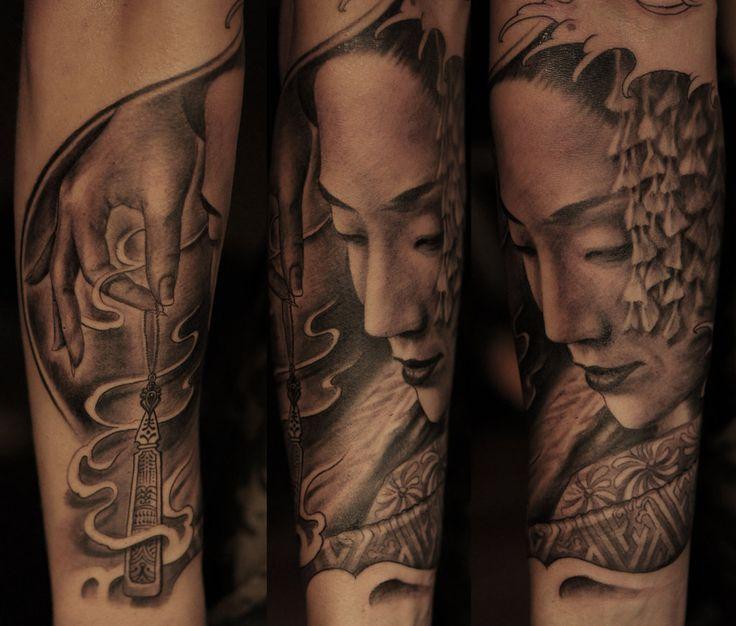 Las 25 mejores ideas sobre tatuajes de geisha en pinterest - Tattoos geishas japonesas ...