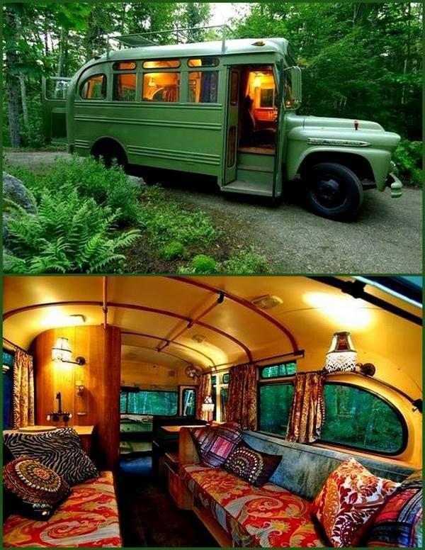 Short bus tiny home