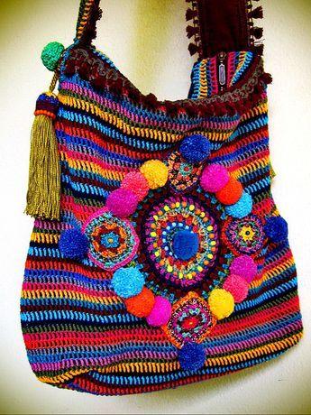 ~ colorful crohet bag ~