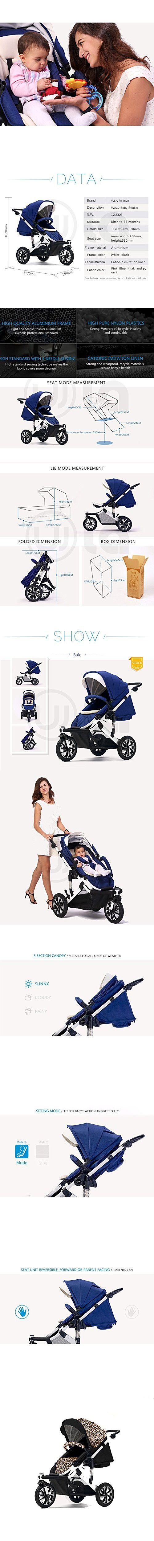 Big ants stroller for baby aluminium frame (Leopard color)