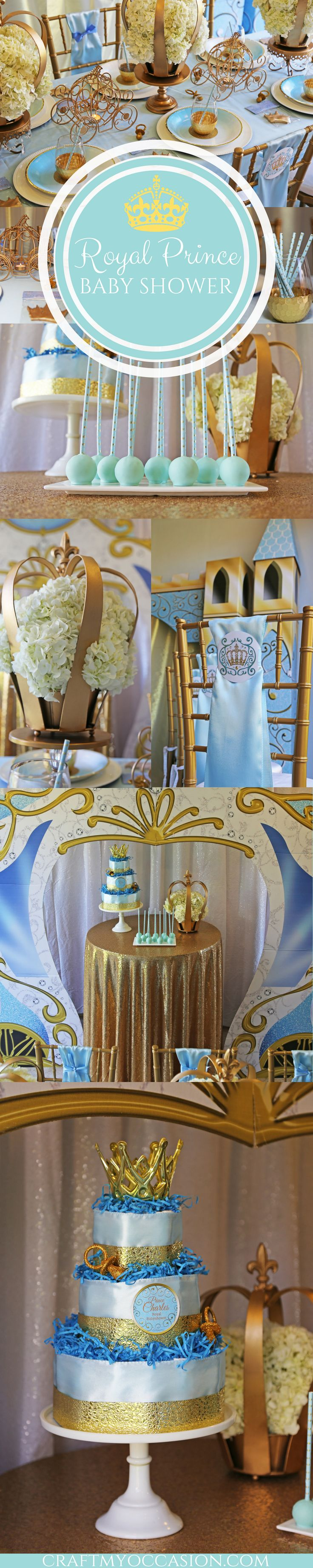 Are you ready for a Royal Baby Shower? Well, adjust your crown and sound the horns, let's celebrate the arrival of Prince Charles! I absolutely loved styling this baby shower in partnership with Shindigz. Every royal celebration involves gold, and this baby shower does not disappoint. The Fairytale Dreams collection makes it easy to design your own princely party! Read more at craftmyoccasion.com
