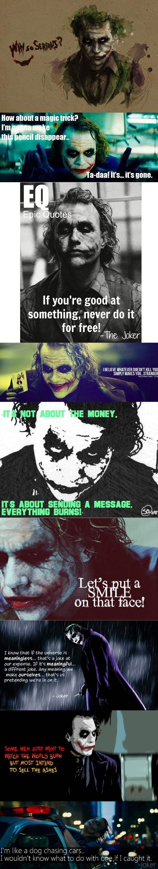 I'm still convinced that not only is Heath Ledger the best Joker ever (and can never be topped) but that it's also the best work he ever did.