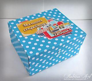 """Катрина Арт: Подарочный комплект для мальчика: Папка для свидетельства о рождении + """"Мамины сокровища"""""""