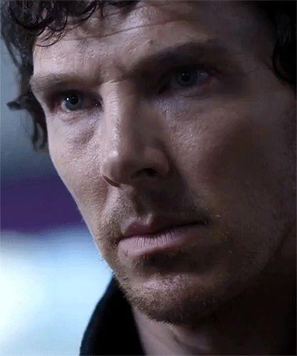 Affirmative Look (to John) on Culverton Smith #TLD #SherlockHolmes #Sherlock #Holmes #series4 #season4 #gif #gifs #thelyingdetective