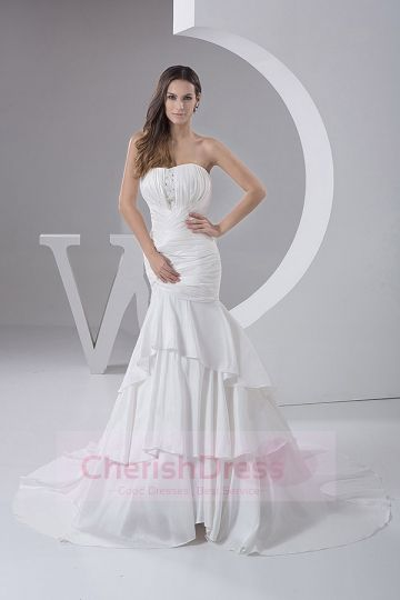 Mermaid Wedding Dresses Trumpet Bridal Gown  Cherishdress