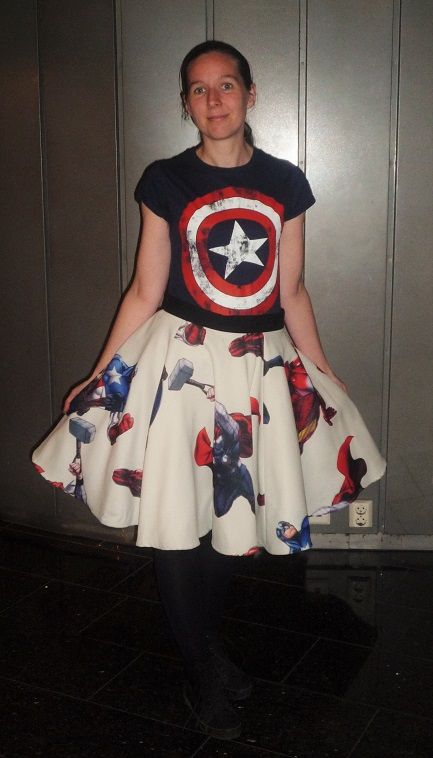 Avengers skirt.  Kara Creations