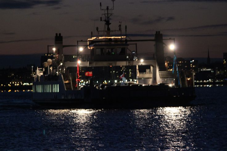 Wolfe Islander III fri. evening departing Kingston Ont. for Wolfe Is. Dawson Point our winter dock safe travels
