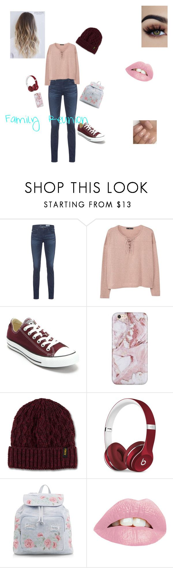 """""""Family Reunion"""" by janellwood on Polyvore featuring AG Adriano Goldschmied, MANGO, Converse, Dr. Martens, Beats by Dr. Dre and New Look"""