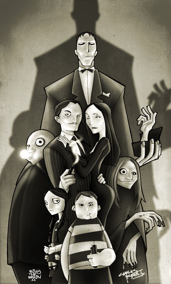 Adams family. Nice, graphic novel (comic book) style art!