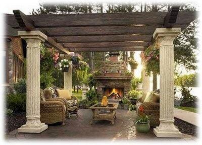 Outdoor Patios: Outdoorpatio, Pergolas, Outdoor Rooms, Outdoor Patio, Outdoor Living Spaces, Columns, Outdoor Fireplaces, Backyard, Outdoor Spaces