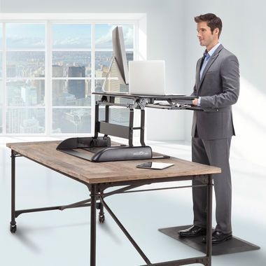 VARIDESK PLUS The Adjustable Height Sit and Stand Desk | Skymall.com