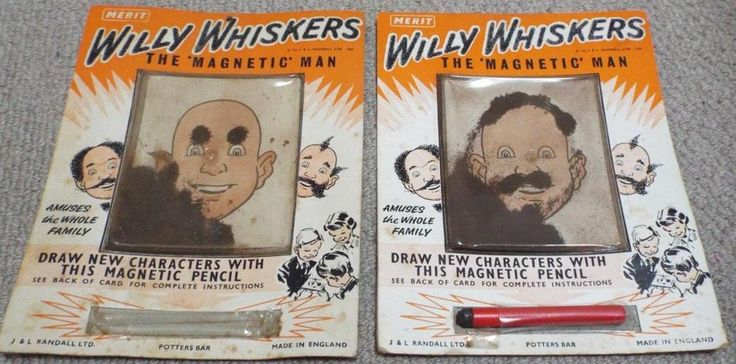 "Willy Whiskers - 2 x Vintage 1961 Merit ""The Magnetic Man"" Games"