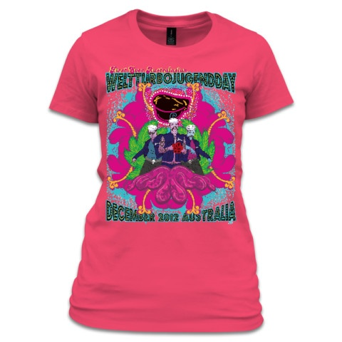 First Ever Australasian WeltTurbojugend Day - Pink - tshirt by Aotearoa 666  $40 from http://aotearoa666.printmighty.co.nz/products/first-ever-australasian-weltturbojugend-day-pink