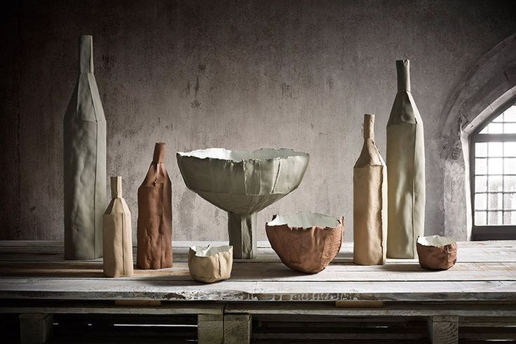 Made entirely by hand, the Cartocci collection has evolved over time, most recently expanding into oversized bottles and bowls