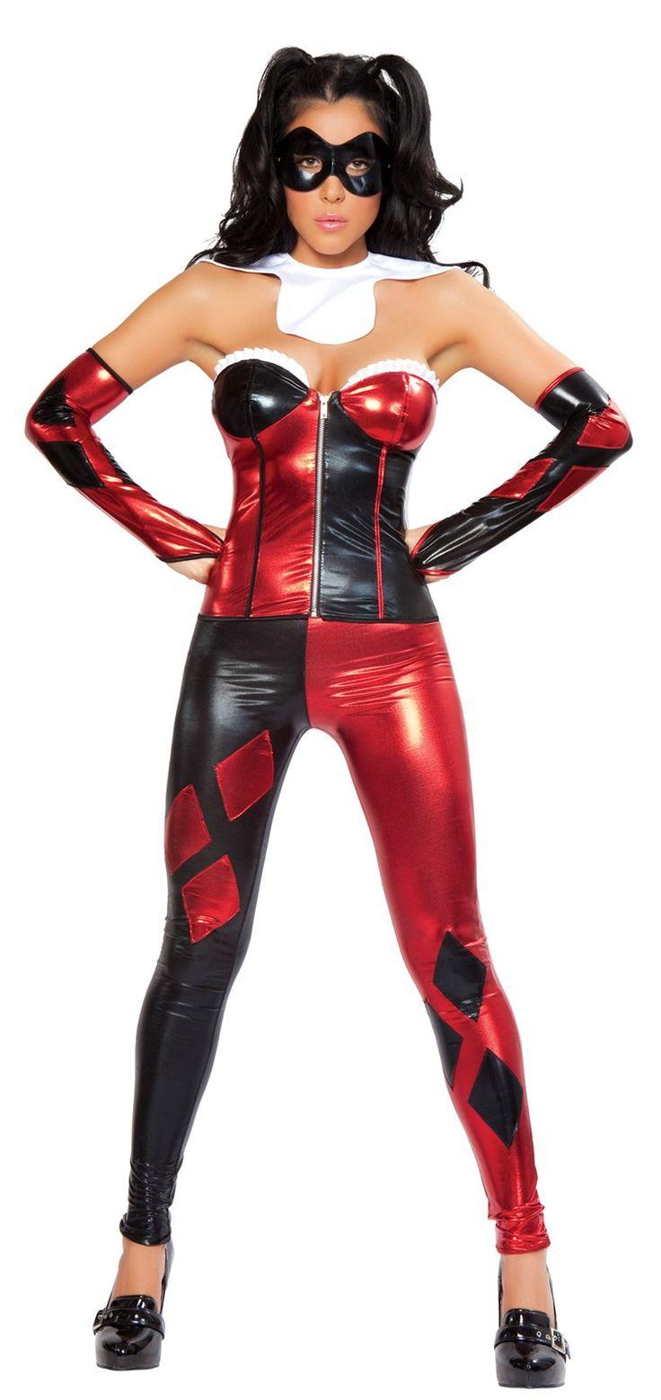 new adult womens sexy jester costume harley quinn cosplay batman joker jpg 736x1557 deadpool halloween costume