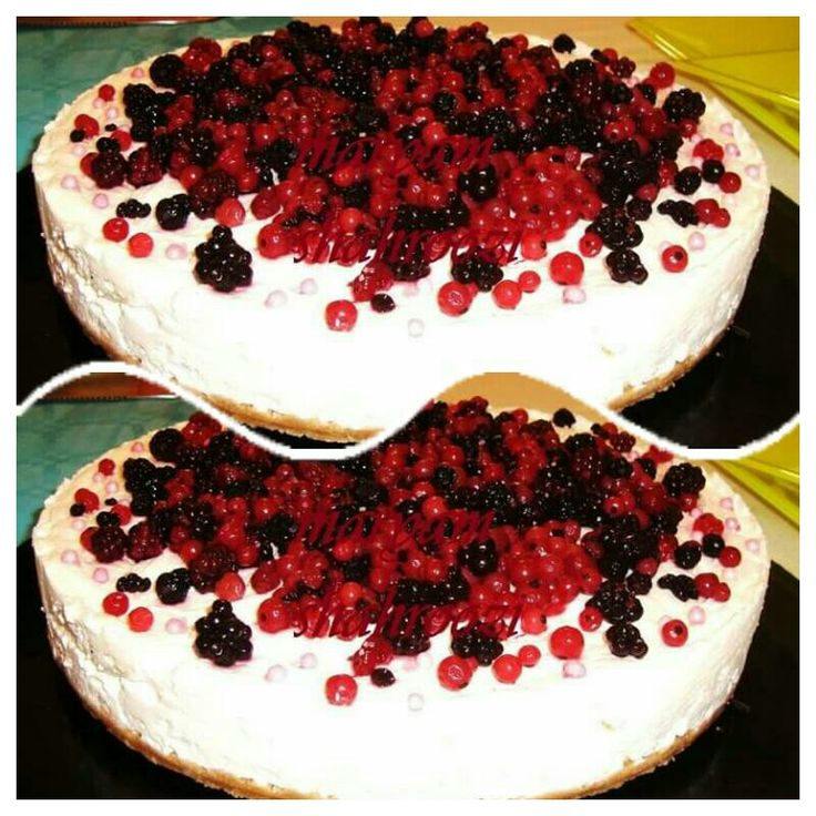 cheesecake bache , mora, fragola,  mirtillo