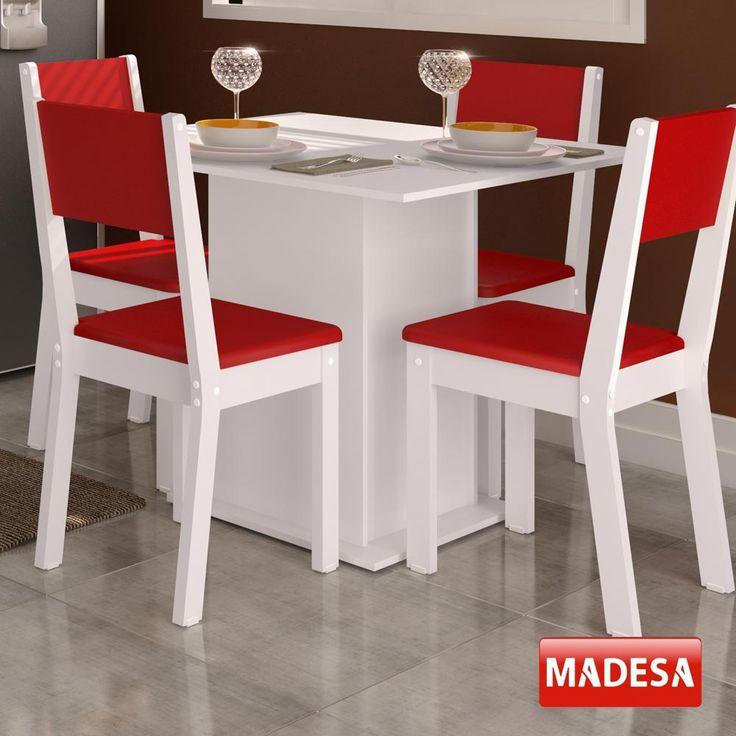 Gostou desta Mesa de Jantar 4 Lugares Colors Vermelho - Madesa, confira em: https://www.panoramamoveis.com.br/mesa-de-jantar-4-lugares-colors-vermelho-madesa-5849.html