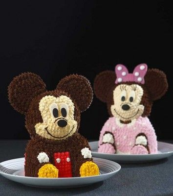 3-D Mickey and Minnie Cakes are Too Cute toEat!