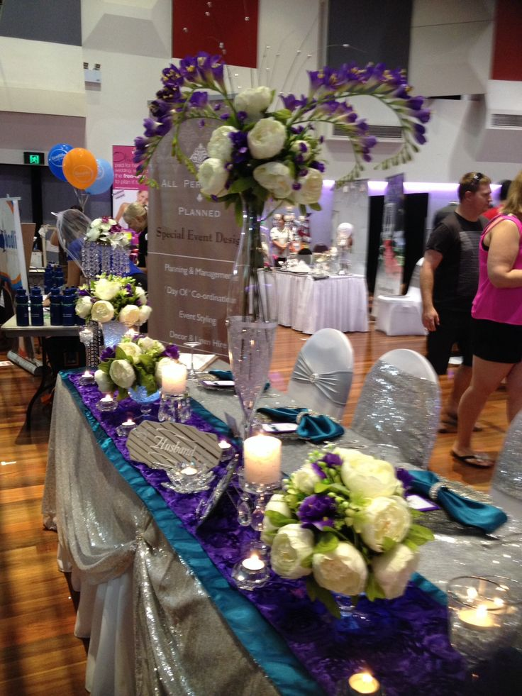 9 best multi colour wedding decor teal purple wedding images on table decoration ideas for bold colour combinations junglespirit Gallery