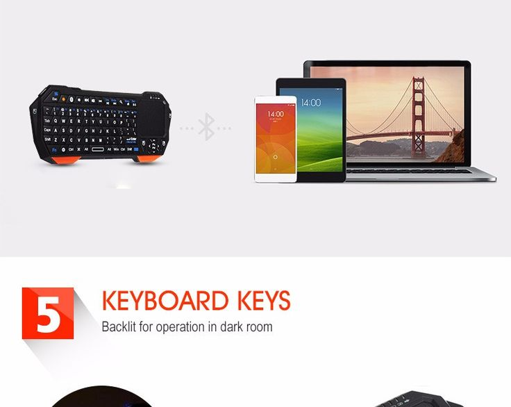 Mini Bluetooth Wireless Backlight Keyboard Touchpad Mouse For Samsung iPhone iPad Smart TV Box Macbook PC