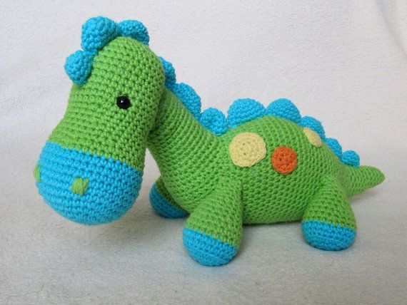 My Friend Dinosaur Dino - Amigurumi Crochet Pattern / PDF e-Book / Stuffed Animal Tutorial via Etsy