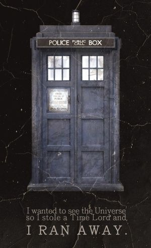 """I wanted to see the Universe, so I stole a Time Lord and I ran away."" - The Doctor's Wife, Season 6"