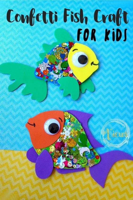 Confetti Fish Craft For Kids Shipwreck Vbs Crafts For Kids Fish