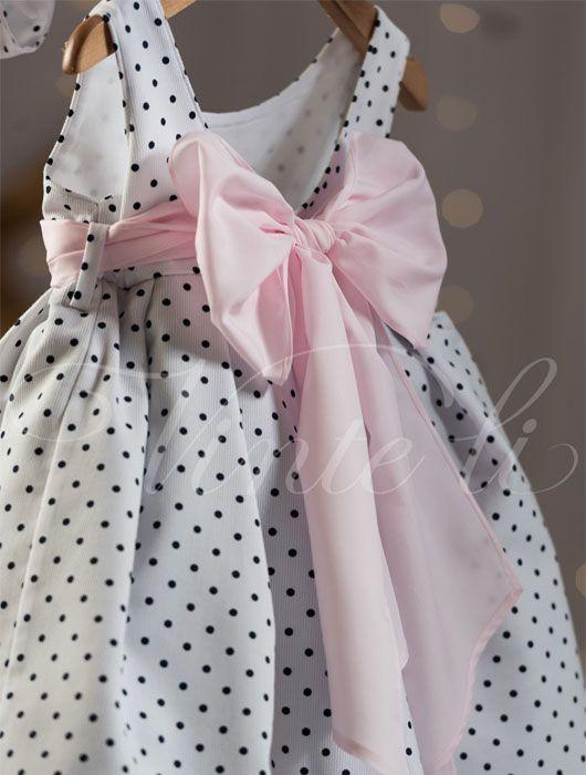 Βαπτιστικά ρούχα, φόρεμα Vinte li πουά 2541 back