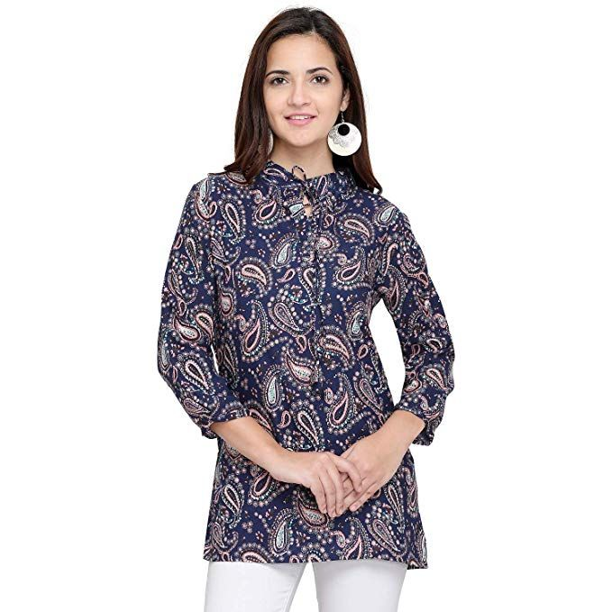 146eed4d739f08 J B Fashion Women Tunic Short Top For Jeans Plain Diamond Creap Top For Daily  wear Stylish Casual an