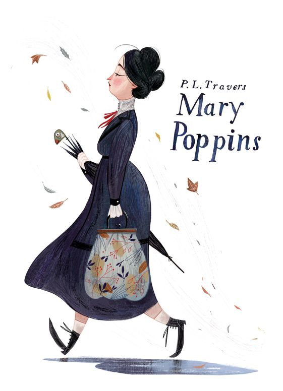 Mary Poppins - what a fun edition to put in a room or nursery inspired by the book.
