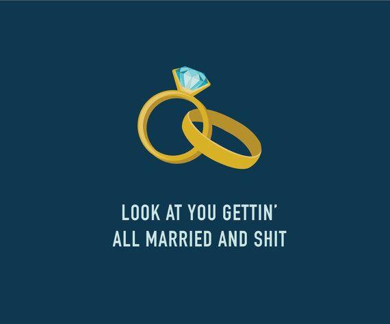 Funny Wedding Card  Funny Engagement Card  door ClassyCardsCreative