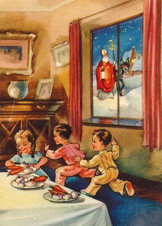 """Rommel de Bommel wat een gestommel Hoor ik me daar op de zolder Rinkel de kinkel wat een gerinkel, wat een geholderdebolder Dat is Sinterklaas met zijn knecht Pieterbaas die zijn weer uit Spanje gekomen zij hebben weer zakken en manden en pakken vol lekkers en moois mee genomen Zij gaan met gemak op het paard over het dak geen regen of geen wind kan hen hinderen Ze malen meteen door de schoorsteen dan heen... """"Zijn hier ook stoute kinderen bij ?"""" Welnee Sinterklaas,ach welnee Pieterbaas"""