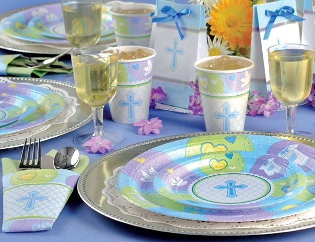Sweet Blessing blue Christening decorations & 15 best Christening decor u003c3 images on Pinterest | Baptism party ...