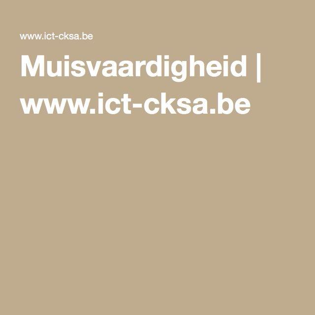 Muisvaardigheid | www.ict-cksa.be