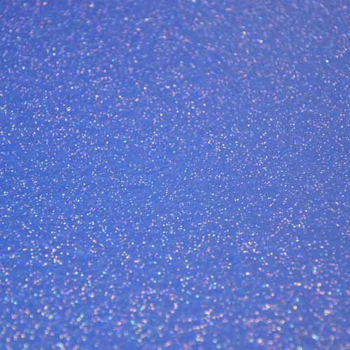 Blue glitter effect vinyl floor tile