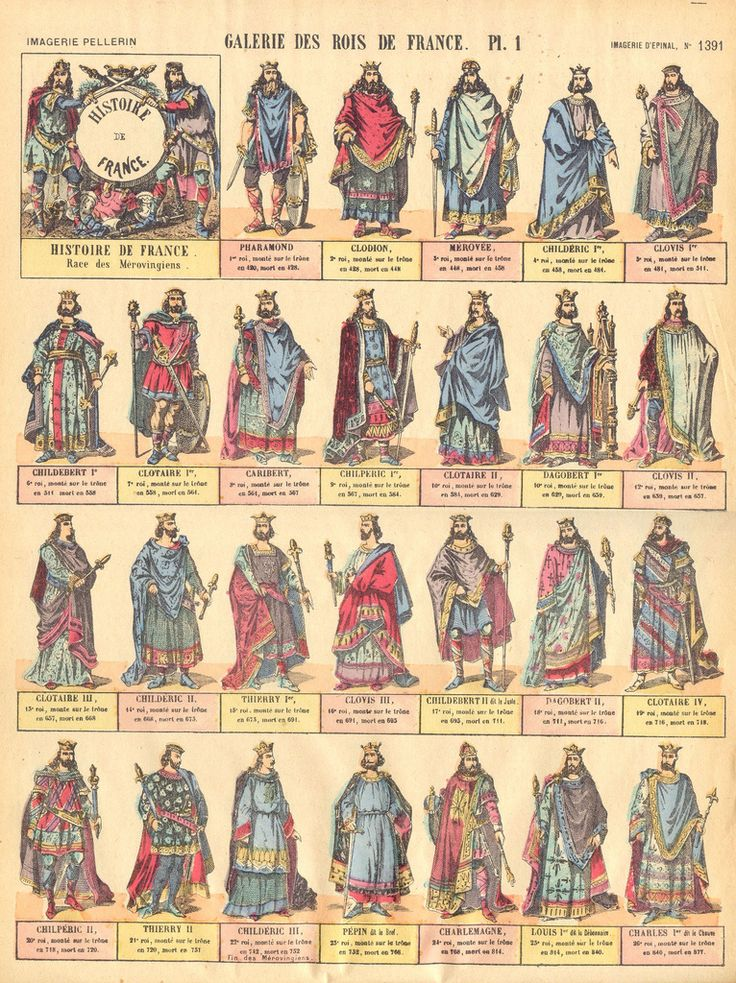 My Merovingian great great, etc grandfathers (most of them) including Charlemagne.