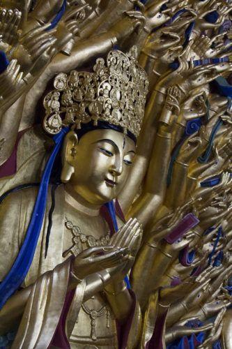 Goddess of Mercy, 1000-hands, Dazu rock carvings, Chongqing, China