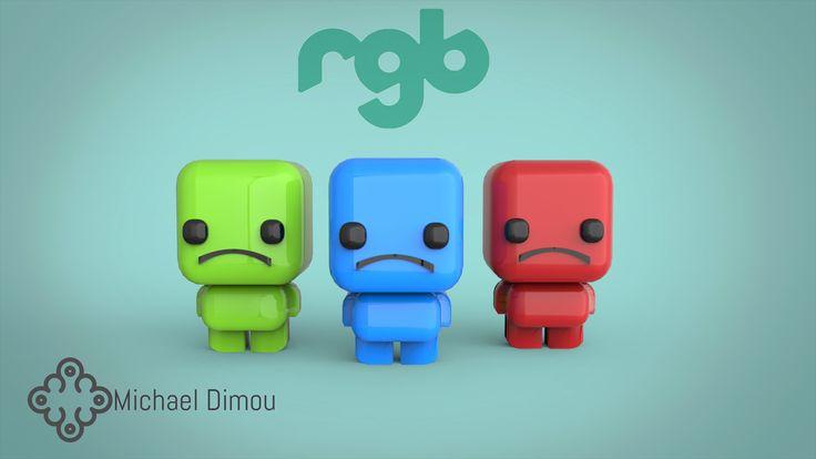 Three friends R , G & B