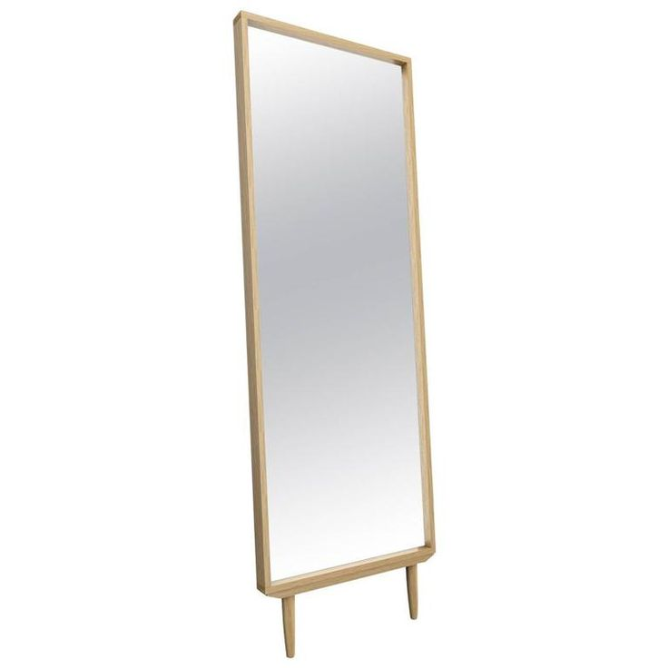Solid White Oak Leaning Modern Floor Mirror | From a unique collection of antique and modern floor-mirrors-full-length-mirrors at https://www.1stdibs.com/furniture/mirrors/floor-mirrors-full-length-mirrors/